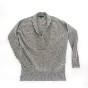 Ann Taylor cashmere grey shawl sweater XXS